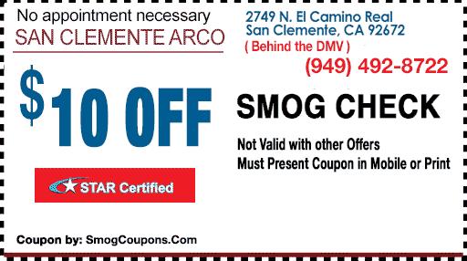 Smog test coupons